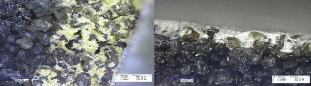 Bild 2: Anschliff eines geschlichteten Cold-Box-Formstoffes (ASK Chemicals GmbH, Hilden)