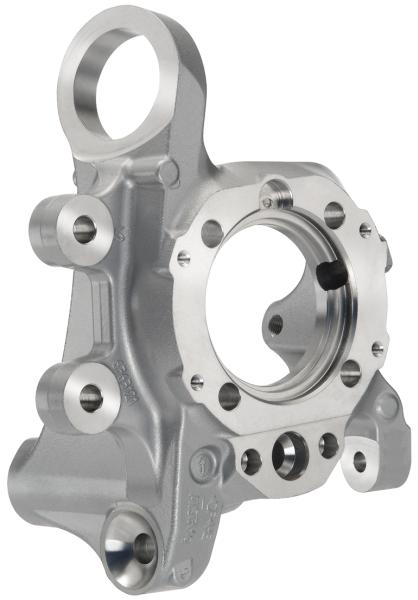 Bild 5: Radträger, hergestellt im Aluminium-Kokillenguss, Quelle und Foto: Wikimedia und Georg Fischer Automotive AG