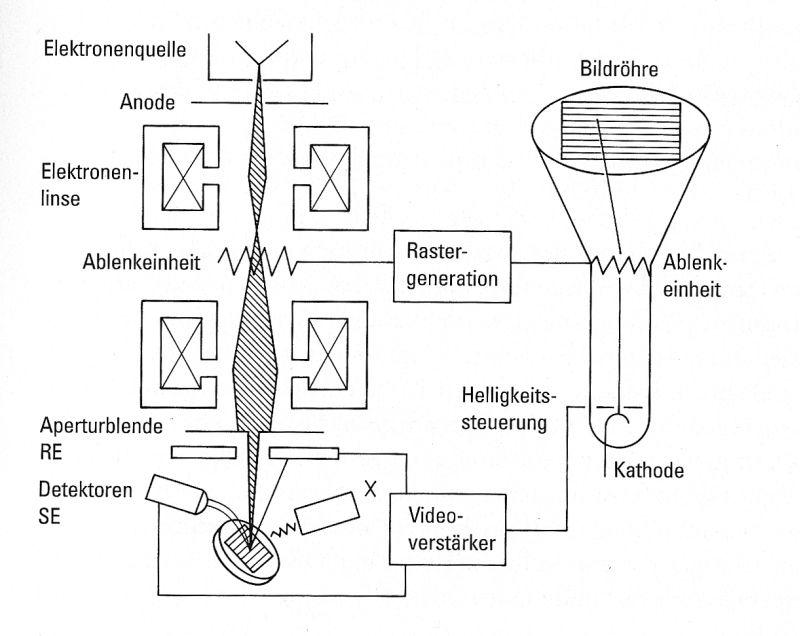 Bild 1: Aufbau eines REM (schematisch)
