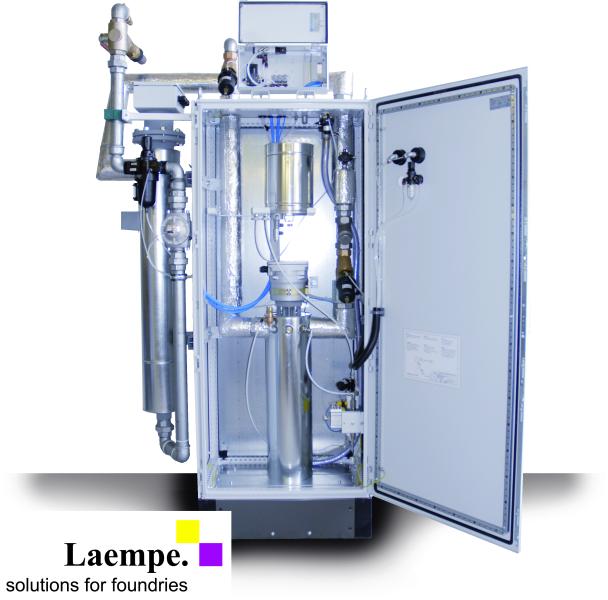 Bild 1: Begasungsgerät LG zur Herstellung von Cold-Box-Kernen mit Vorwärmerhitzer, Foto: Laempe Mössner GmbH, Schopfheim
