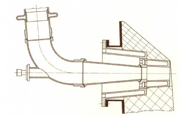 Bild 1: Schnellwechsel-Kupferdüse mit Kühlring und leicht lösbarem Düsenstock (nach F. Neumann)