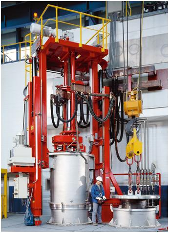 Bild 1: Vakuum-Lichtbogen-Umschmelzofen VAR (ALD Vacuum Technologies GmbH, Hanau)