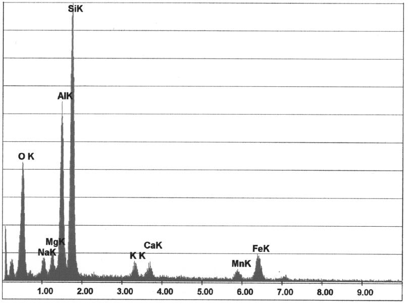Bild 2: Typische Elementekonzentration aus dem Bereich in Bild 1