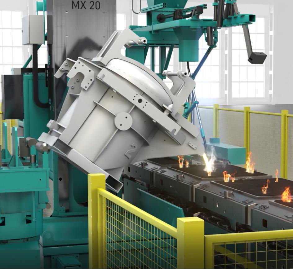 Bild 1: Vollautomatische Gießmaschine der MAXPOUR Serie (Künkel Wagner Germany GmbH)