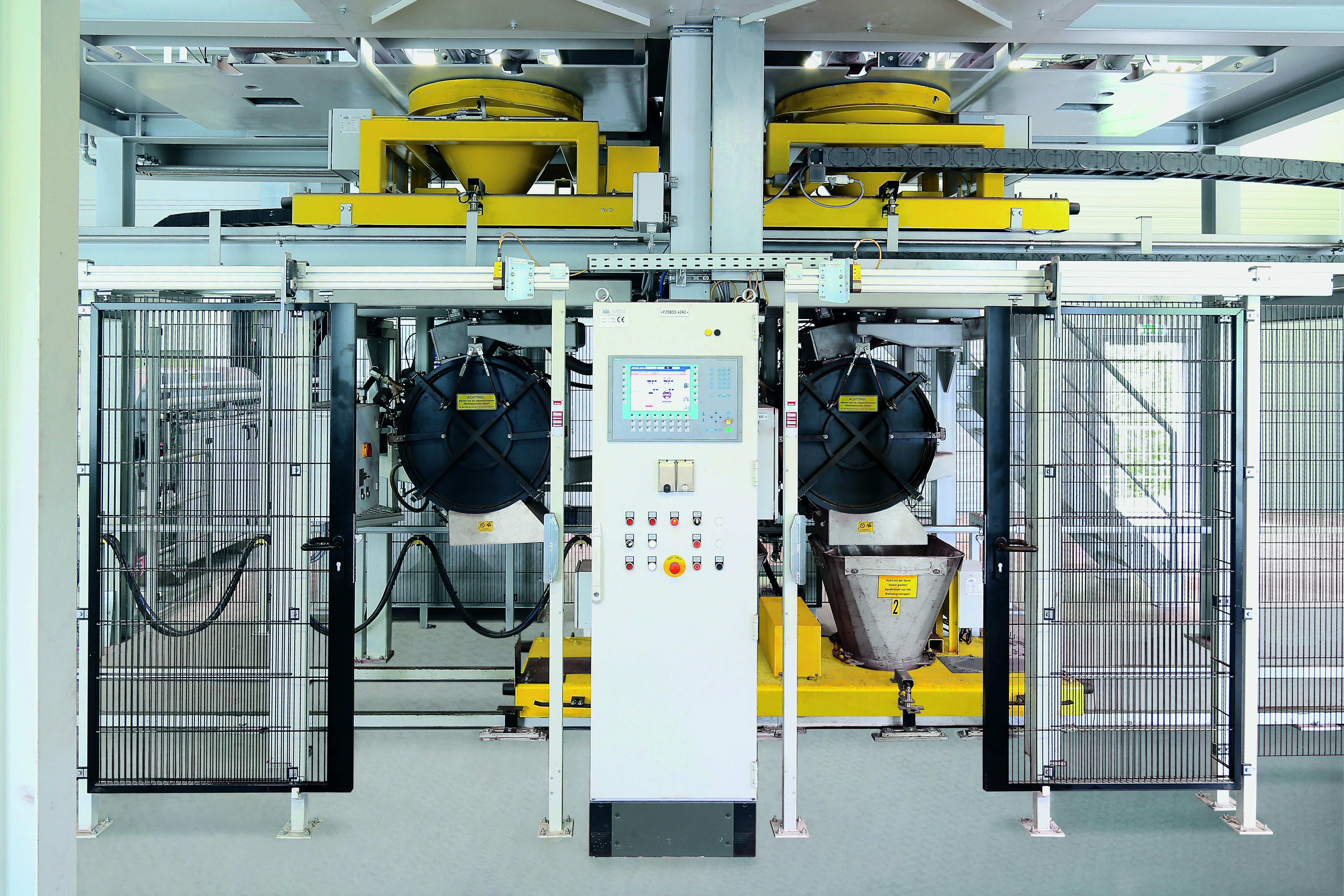 Bild 1: Aufbereitungsanlage für Kernsande (KLEIN Anlagenbau AG)