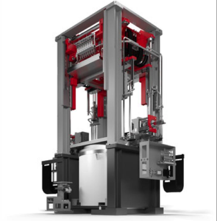 Bild 1: Moderne Niederdruck-Gießanlage, Gießmaschine der Baureihe LOW PRESSURE CASTER B von Fill GmbH