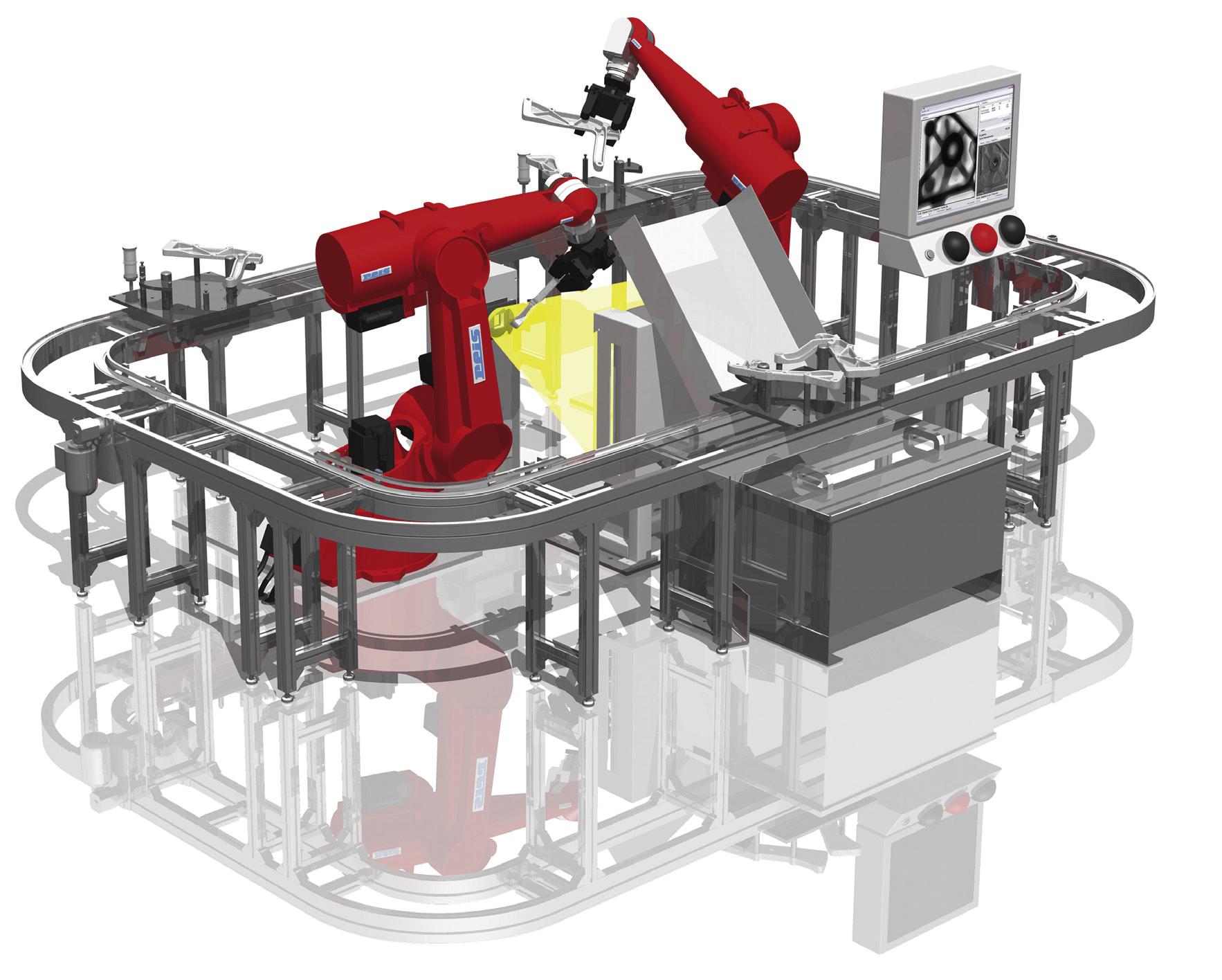 Bild 2: Roboterbasierte Lösung zur Prüfung von Achsen (Quelle: Fraunhofer EZRT)