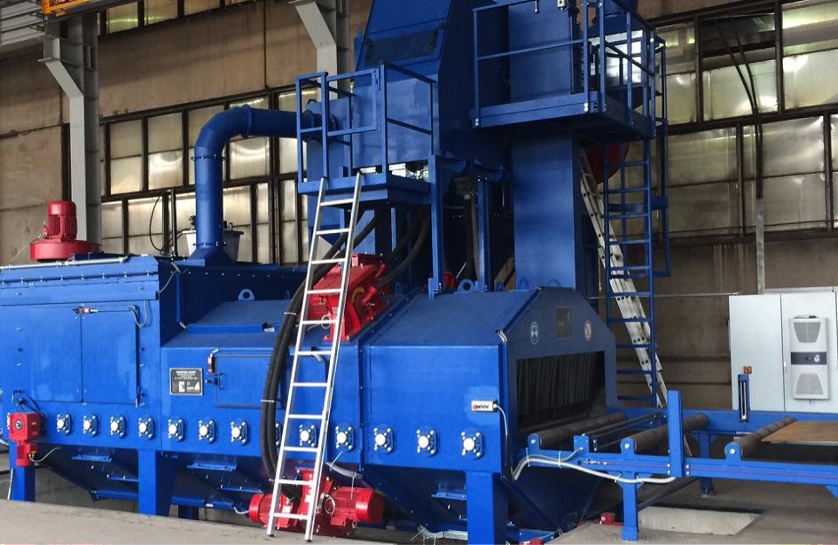 Fig. 2: Rolle Conveyor Machine (Rump Strahlanlagen GmbH & Co. KG)
