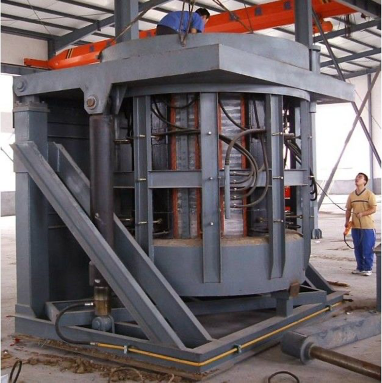 Fig. 1: Medium-frequency induction crucible furnace (Source: FT&E)