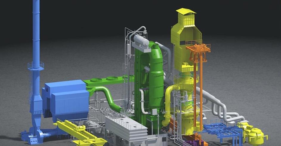 Bild 3: Modell eines 25t/h Heißwindkupolofen (Küttner GmbH & Co. KG)