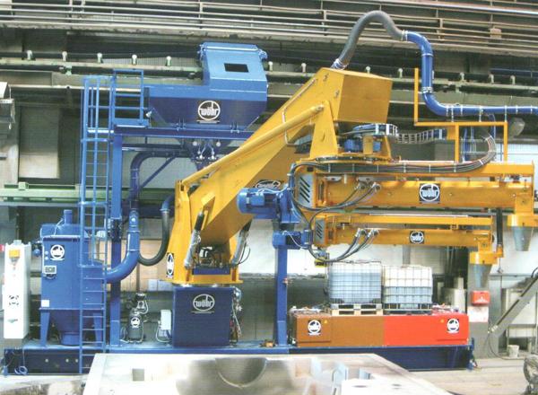 Bild 1: Fahrbarer Durchlaufmischer Typ Känguru 8/50 (AAGM Aalener Gießereimaschinen GmbH)