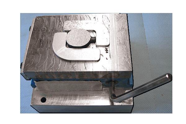 Bild 2: Permanentmagnet zum Spannen von Spektrometer Proben (HERZOG Maschinenfabrik GmbH & Co. KG)
