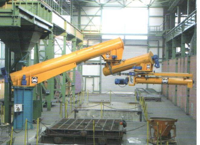 Bild 3: Stationärer Durchlaufwirbelmischer, Dreigelenk (AAGM Aalener Gießereimaschinen GmbH)