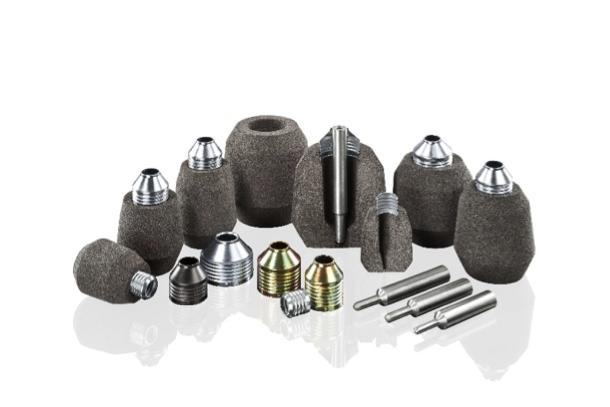 Bild 1: Exotherme Speiser mit Metallbrechkern (Foseco Foundry Division Vesuvius GmbH),