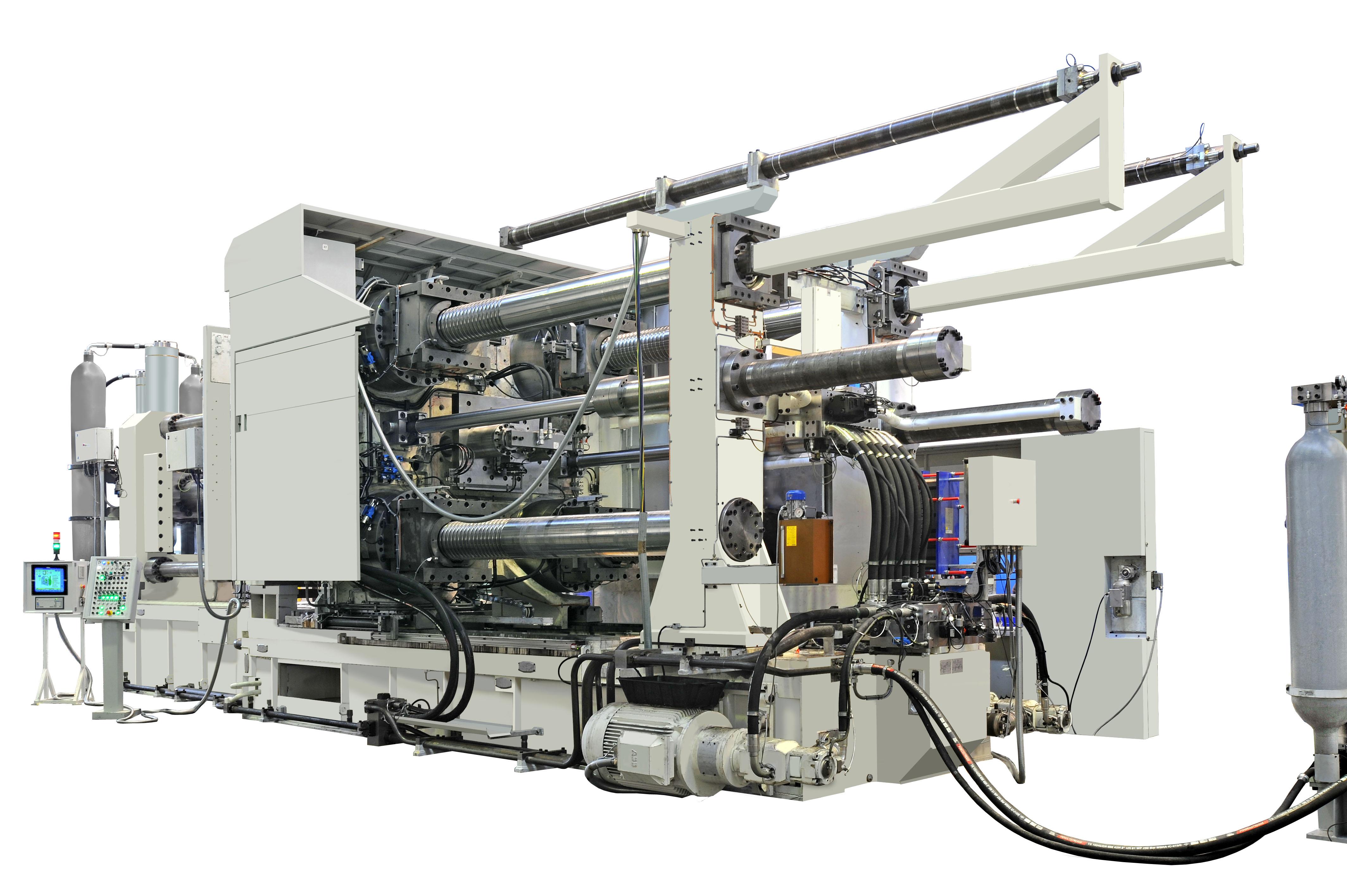 Bild 1: Maschine der Serie TF, mit 2 Platten, ohne Kniehebel (Italpresse Industrie S.p.A.)