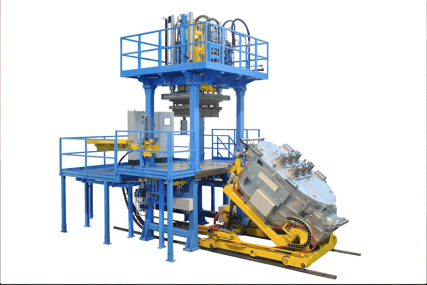 Fig. 1: Low pressure gravity die casting plant, Gauss Automazione srl.